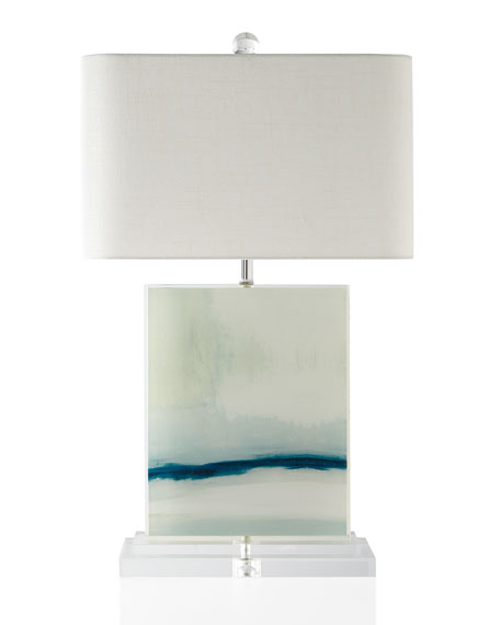 John-Richard Collection Enigma Printed Canvas Table Lamp