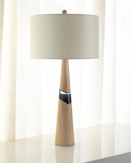Paloma Rubberwood Table Lamp, 35
