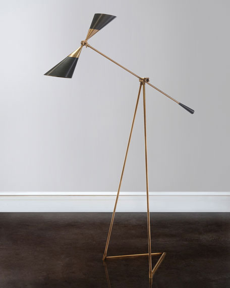 John richard collection mid century floor lamp neiman marcus mid century floor lamp mozeypictures Gallery