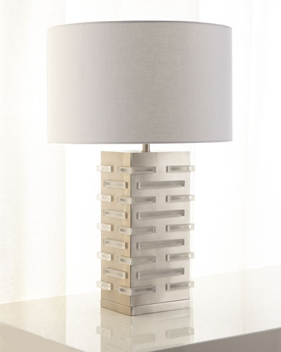 Acrylic Block Illuminating Table Lamp