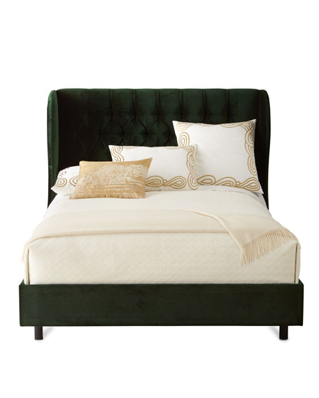 santorini tufted wingback california king bed