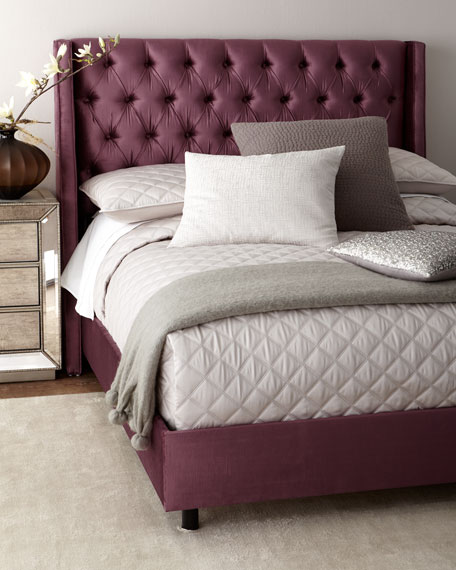 Blair Upholstered Tufted Wingback King Bed