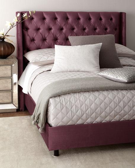 Bernhardt Bree Channel Tufted Queen Bed