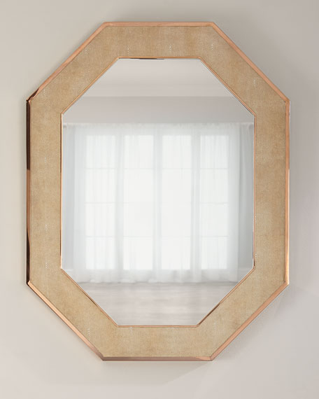 Jamie Young Octagon Faux-Shagreen Mirror