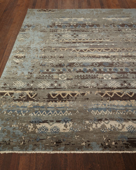 Denley River Hand-Knotted Rug, 4' x 6' and