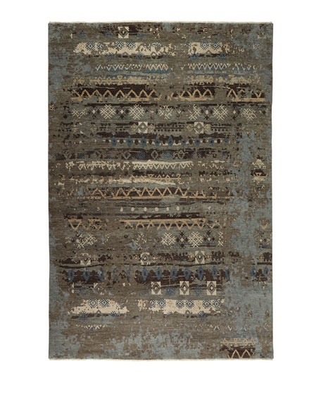 Denley River Hand-Knotted Rug, 10' x 14'