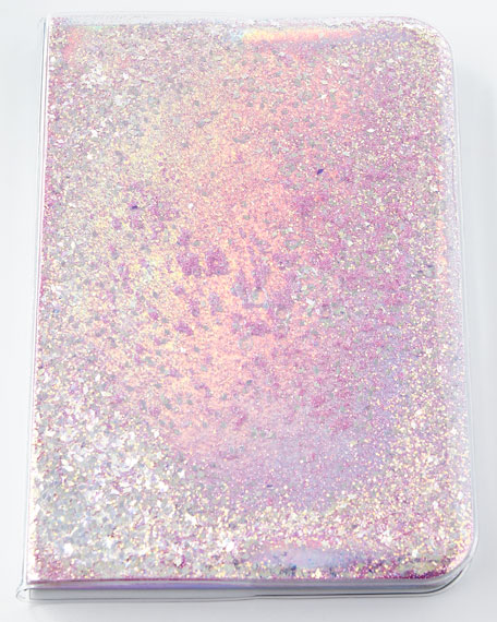 Skinnydip London Star and Moons Glitter Notebook, Pink/Silver