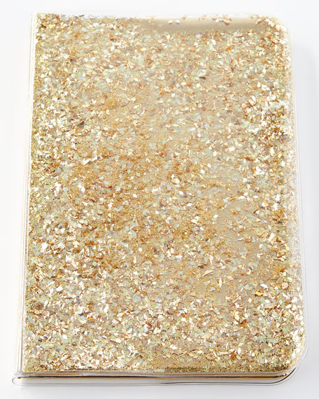 Skinnydip London Star and Moons Glitter Notebook, Gold