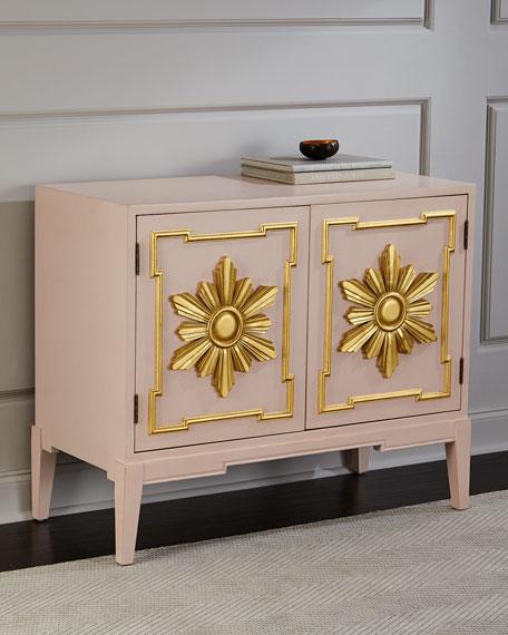 Tomi Gold Leaf Star Cabinet