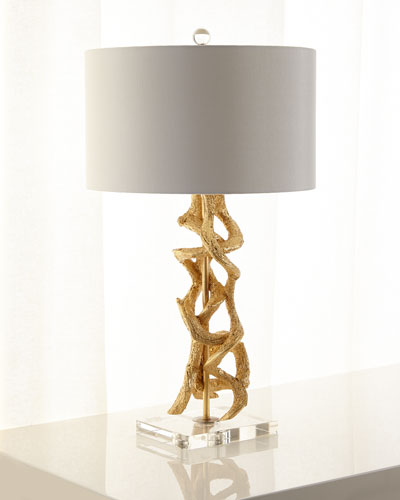 GOLD VINE TABLE LAMP