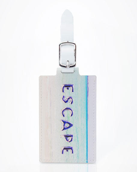 Escape Leather Luggage Tag