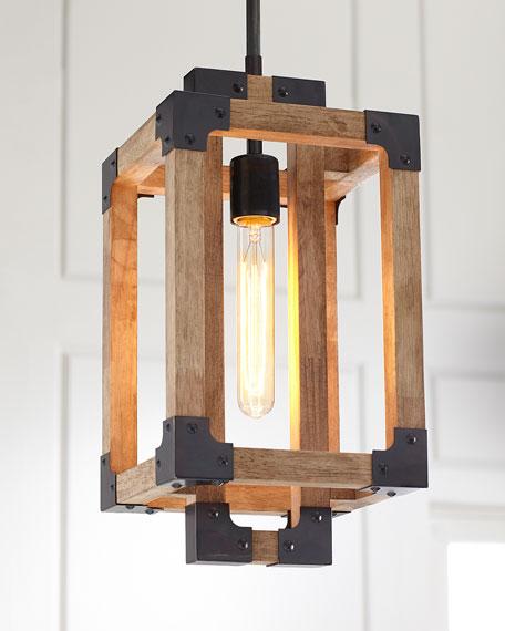 Wooden Mini Pendant Light