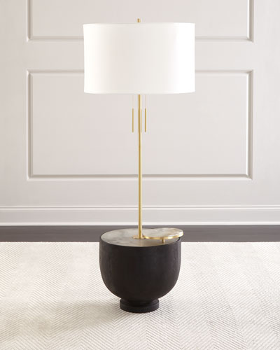 Theo Ebon Floor Lamp