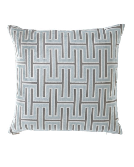 D.V. Kap Home Carlyle Glacier Geometric Pattern Pillow