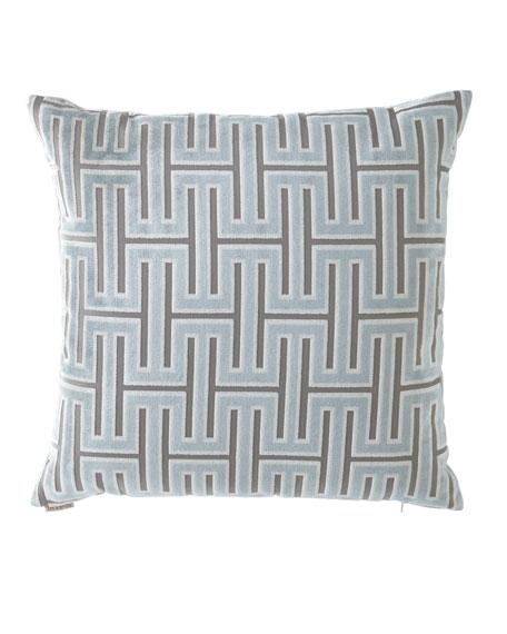 Carlyle Glacier Geometric Pattern Pillow