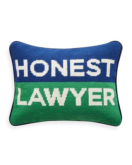 Jonathan Adler Honest Lawyer Pillow