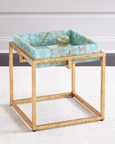 Kiara Side Table with Removable Tray