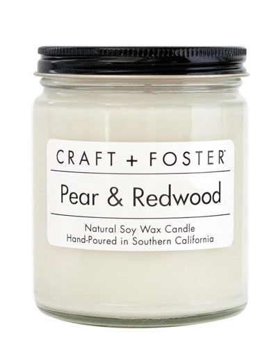 Pear and Redwood Scented Candle, 8 oz./226g