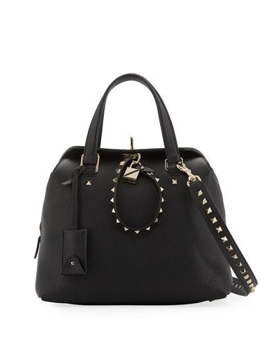 Rockstud Twiny Leather Duffle Bag