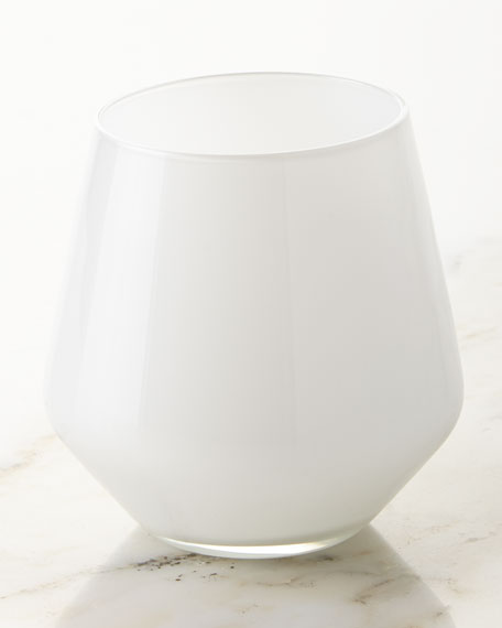 White Glass Tumblers, Set of 6