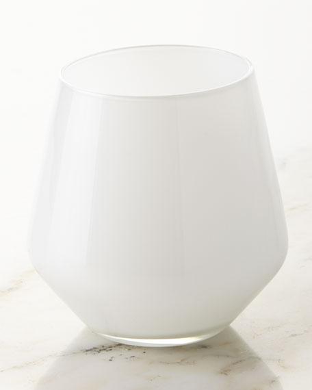 White Glass Tumblers, Set of 6