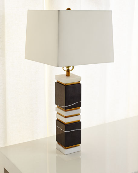 Arteriors Dustin Marble/Brass Table Lamp