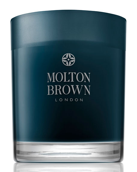 Molton Brown Russian Leather Single Wick Candle, 6.3