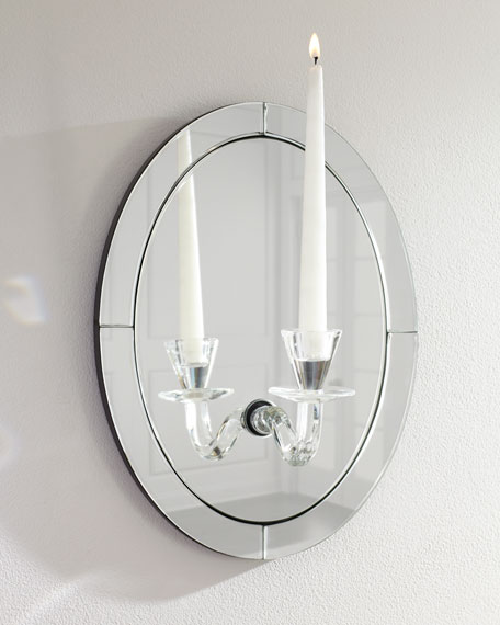 Glass Candle Sconces