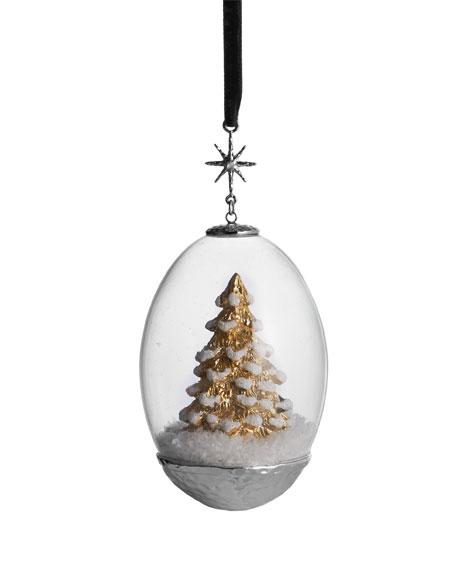 Michael Aram Tree Egg Snow Globe Ornament