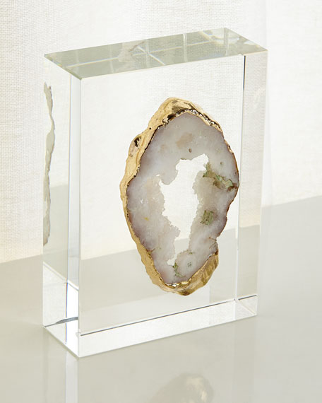 John-Richard Collection White Geode on Crystal