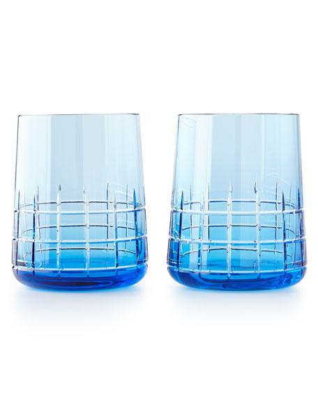 Christofle Graphik Stemless Goblets, Set of 2, Blue