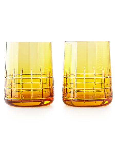 Christofle Graphik Stemless Goblets, Set of 2, Amber