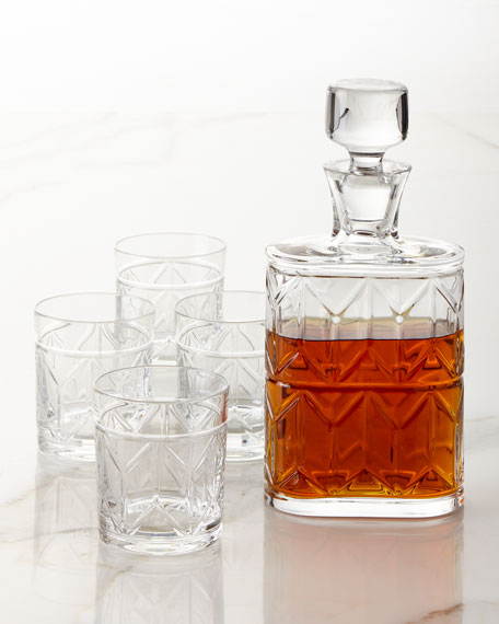 Vista Alegre Avenue Whiskey Decanter and Four Double