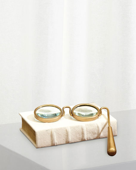 Lorgnette Magnifying Glass-Brass