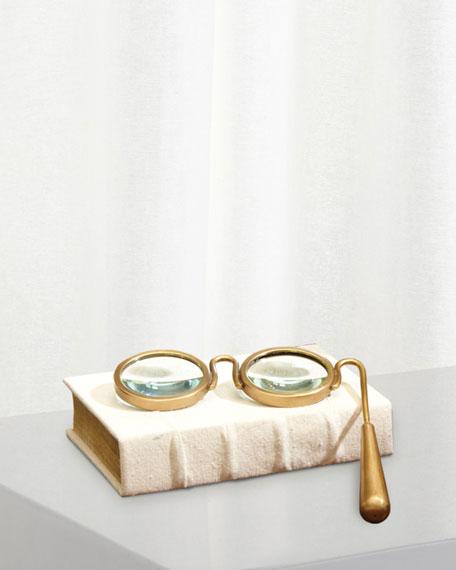 Lorgnette Magnifying Glass-Brass