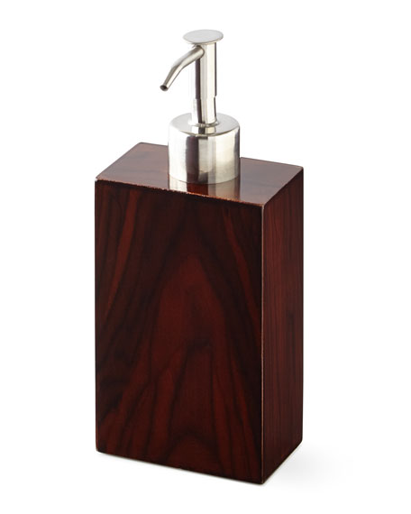 Kassatex Madera Lotion Dispenser and Matching Items