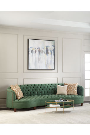 Haute House Vaughn Tufted Velvet Sofa