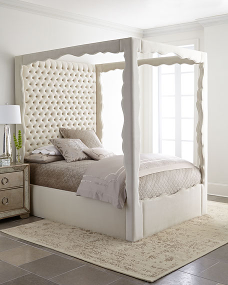 Haute House Empress King Canopy Bed and Matching