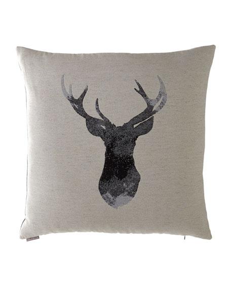 """Buckhead Flax Pillow. 24"""" Sq."""