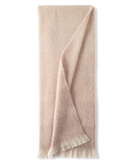 Michael Aram Dip Dyed Mohair Throw Blanket, Beige