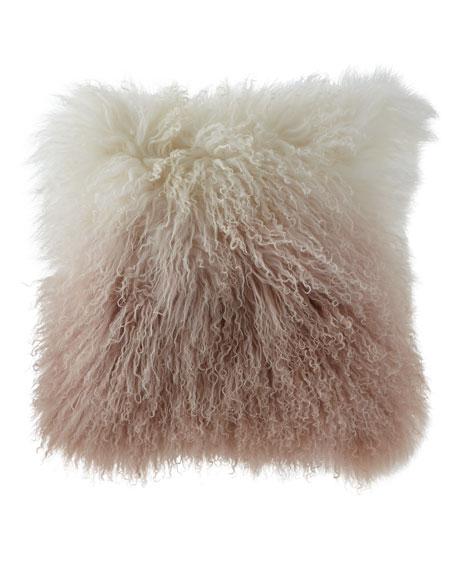 Michael Aram Dip Dye Curly Sheepskin Pillow, 18