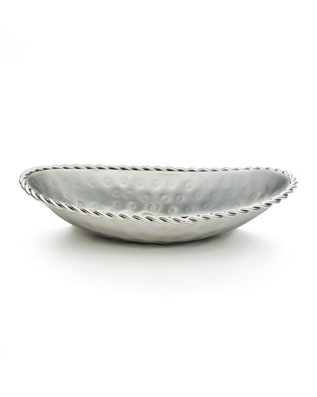 Mary Jurek Oval Bowl with Braid