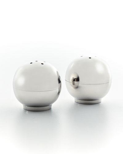 White Nickel Ball Salt/Pepper Shakers