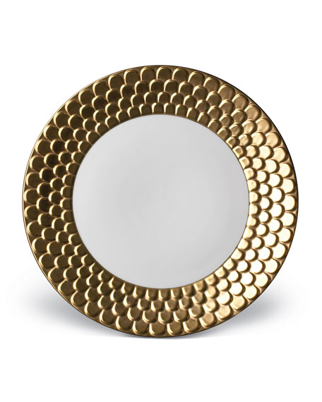 L'Objet Aegean Gold Dinner Plate