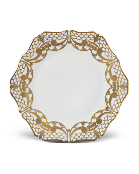 L'Objet Alencon Gold Salad Plate