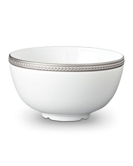 L'Objet Soie Tressee Platinum Cereal Bowl