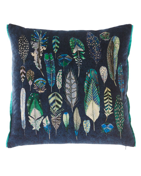 Designers Guild Quill Cobalt Cushion Pillow and Matching