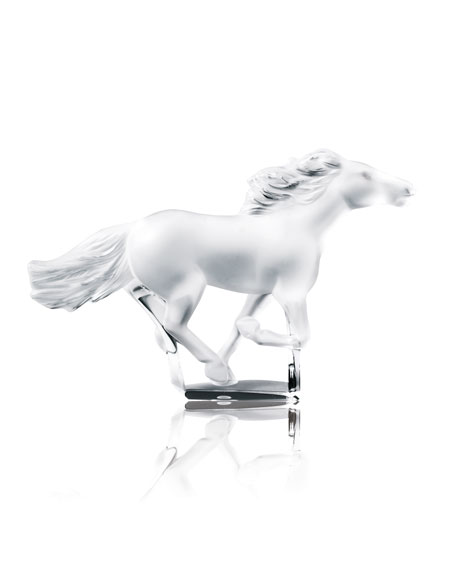 Lalique Kazak Horse Sculpture - Clear