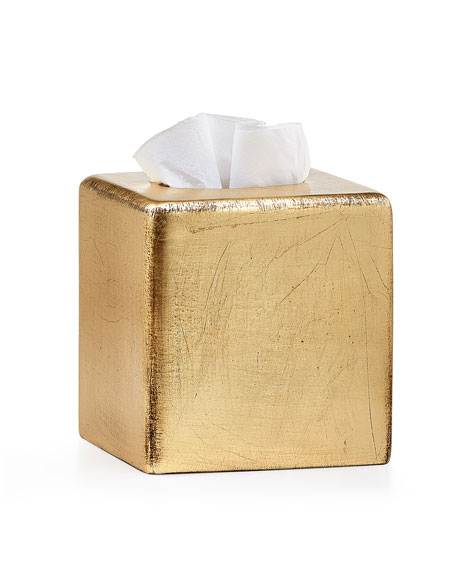 Ava Tissue Box Cover, Gold