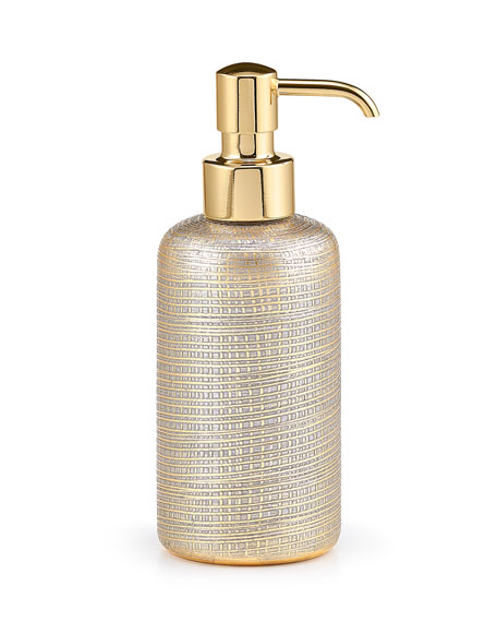 Labrazel Woven Metallic Pump Dispenser with Golden Polished